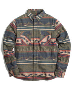 United By Blue Men's Olive Responsible Plaid Long Sleeve Western Flannel Shirt , Olive, hi-res