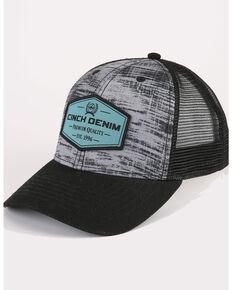 Cinch Men's Grey Sublim Print Logo Patch Trucker Ball Cap, Purple, hi-res