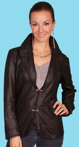 Scully Featherlite Two Clasp Jacket, Black, hi-res