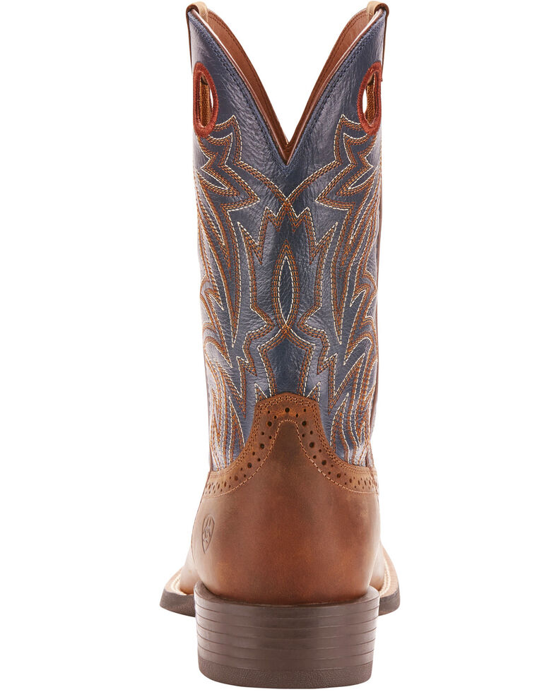 Ariat Men's Sidebet Western Boots - Square Toe , Brown, hi-res