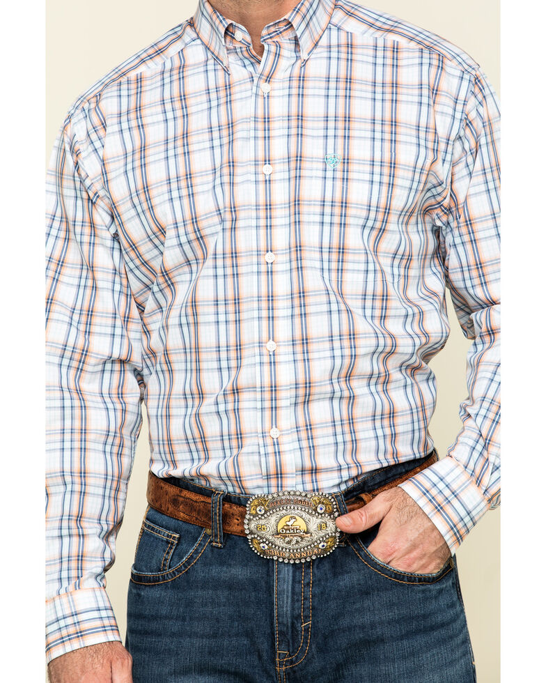 Ariat Men's Wrinkle Free Zukiah Multi Plaid Long Sleeve Western Shirt - Tall  , Multi, hi-res