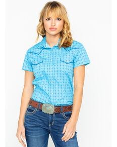 9e74d08850c91b Panhandle Women s Nordini Antique Short Sleeve Western Shirt
