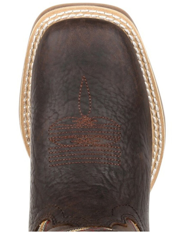 Durango Boys' Lil Rebel Brown Western Boots - Square Toe, Dark Brown, hi-res