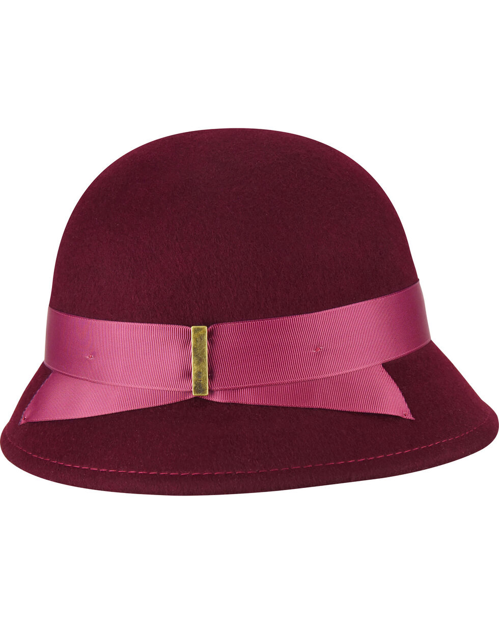 Betmar Women's Alcott Cranberry Cloche, Red, hi-res