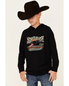 Dale Brisby Boys' Black Desert Scene Graphic Hooded Sweatshirt , Black, hi-res