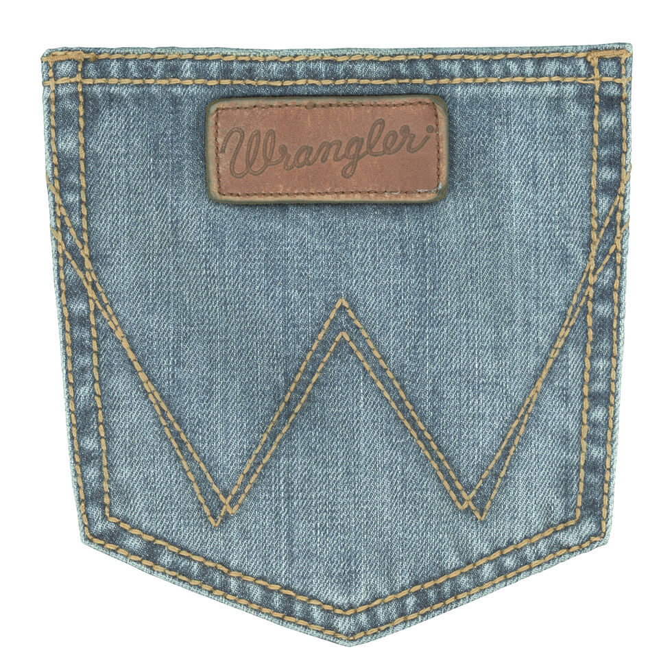 Wrangler Retro Relaxed Fit Light Wash Boot Cut Jeans, Indigo, hi-res