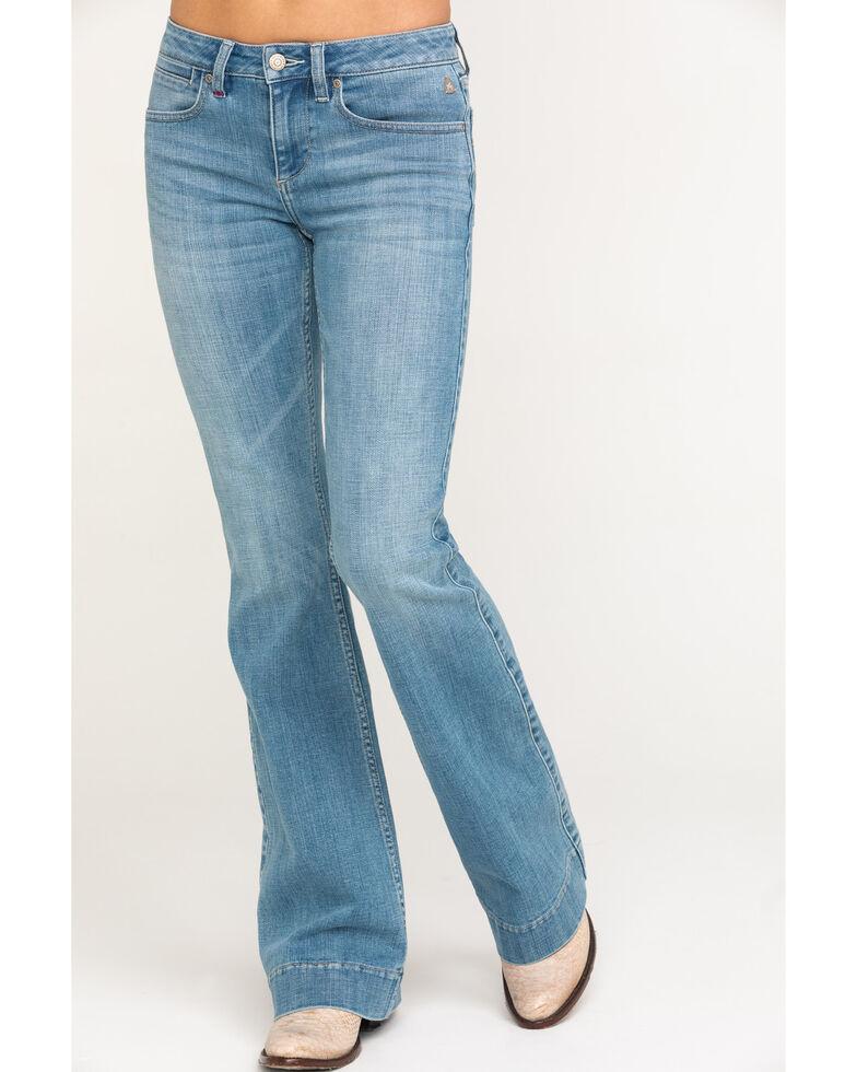 Idyllwind Women's Cloud Walkin' Love Sick Flare Jeans, Blue, hi-res