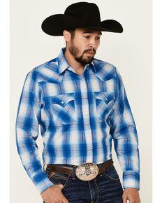 Ely Walker Men's Assorted Large Plaid Textured Long Sleeve Snap Western Shirt - Big, Multi, hi-res