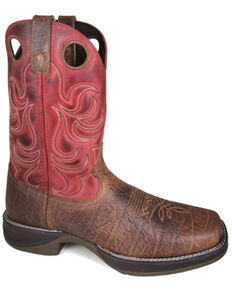 Smoky Mountain Men's Benton Western Boots - Square Toe, Brown, hi-res