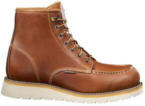 """Carhartt 6"""" Tan Wedge Boots, Tan, hi-res"""