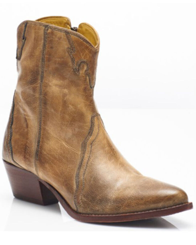 Free People Women's New Frontier Fashion Booties - Round Toe, Tan, hi-res