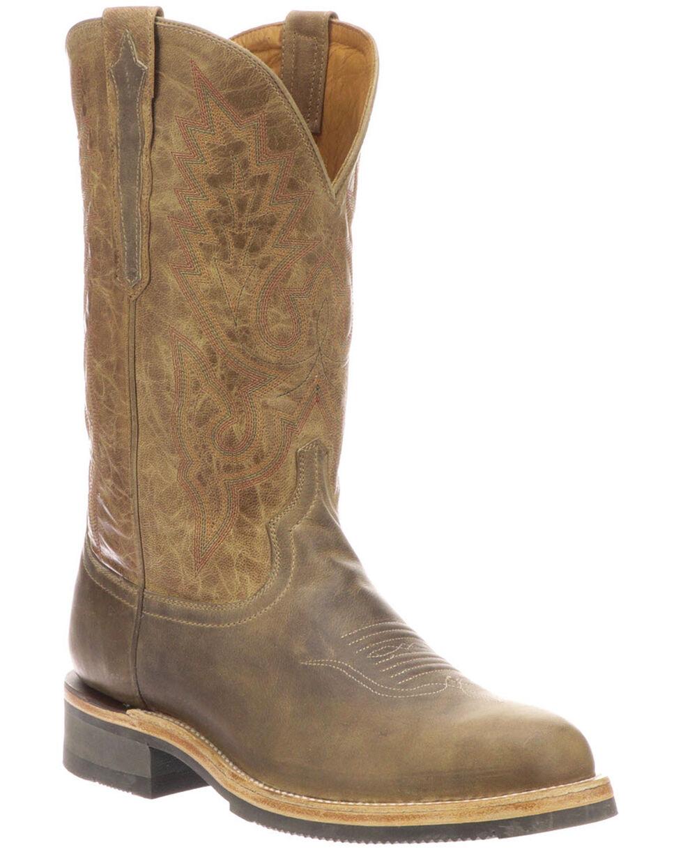 Lucchese Men's Rusty Western Boots - Medium Toe, Grey, hi-res