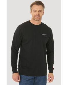 Wrangler FR Men's Black Skull Flag Graphic Long Sleeve Work T-Shirt , Black, hi-res