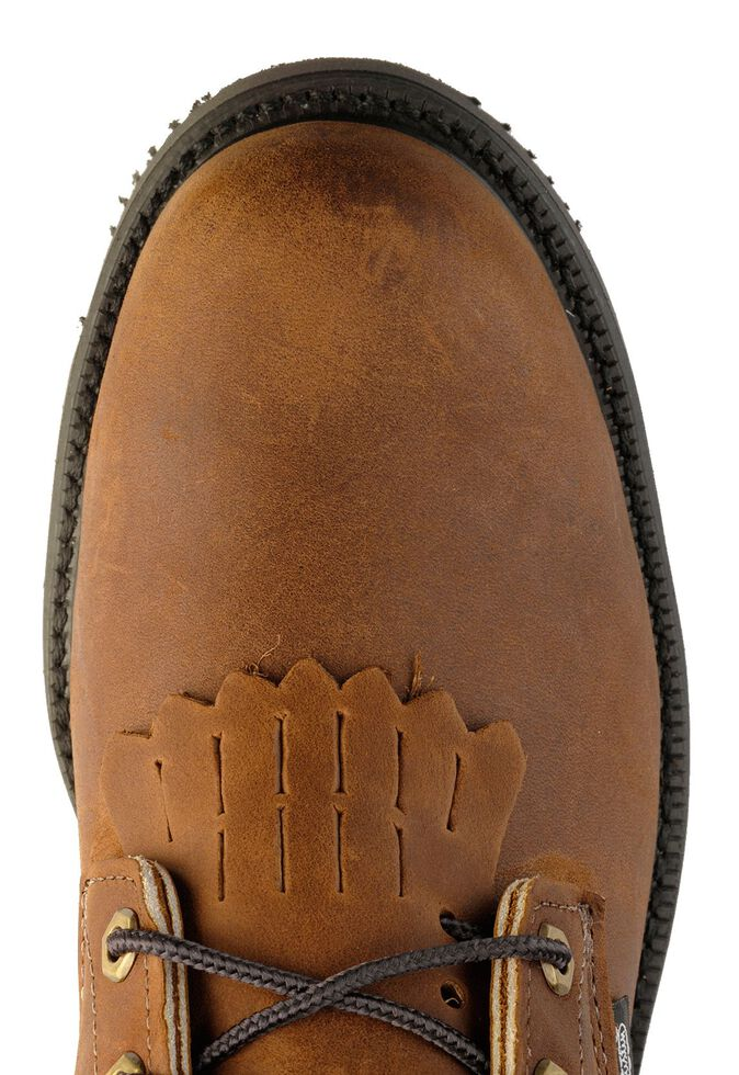 """Justin Men's Cargo Brown EH 8"""" Lace-Up Work Boots - Steel Toe, Bark, hi-res"""