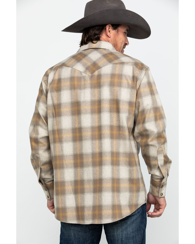 Pendleton Men's Tan Canyon Ombre Plaid Long Sleeve Flannel Shirt , Tan, hi-res