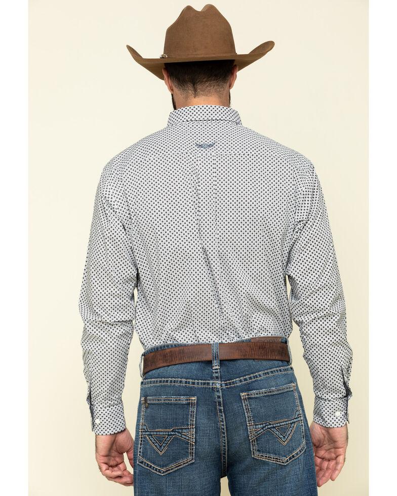 Ariat Men's Relentless Tenacious Stretch Geo Print Long Sleeve Western Shirt , White, hi-res