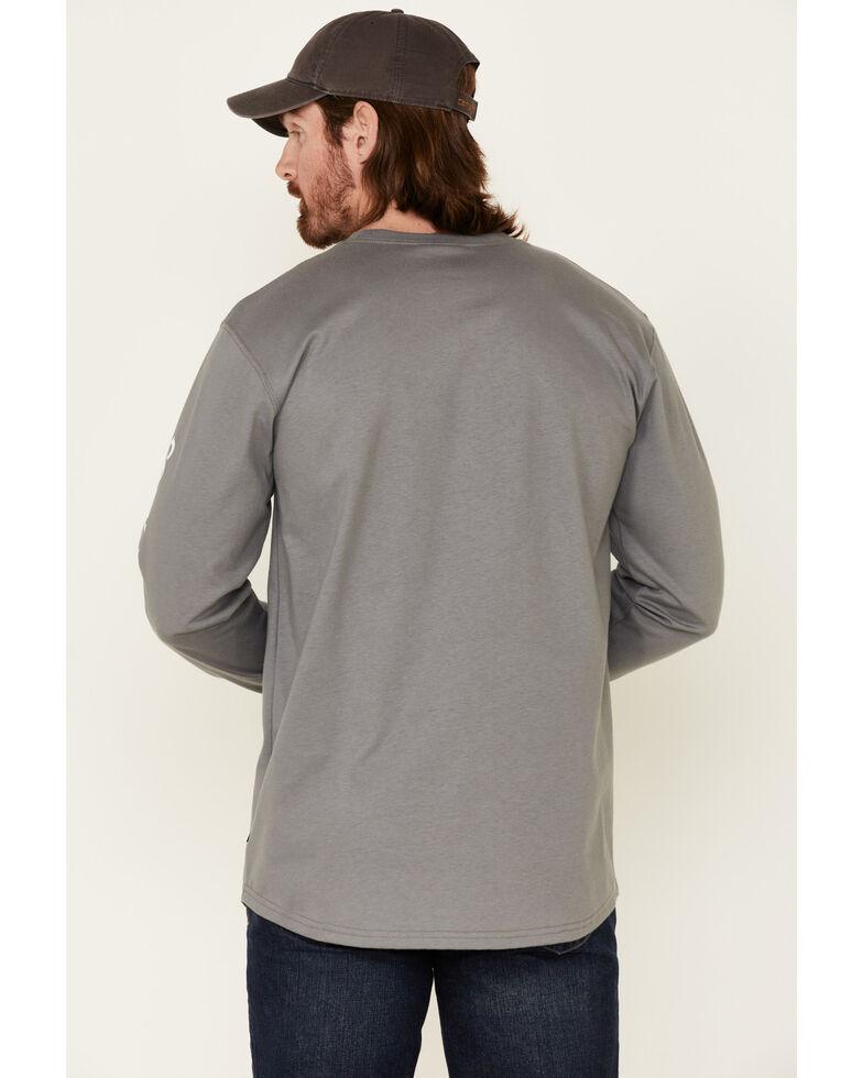 Cody James Men's Light Grey FR Logo Long Sleeve Work T-Shirt , Light Grey, hi-res