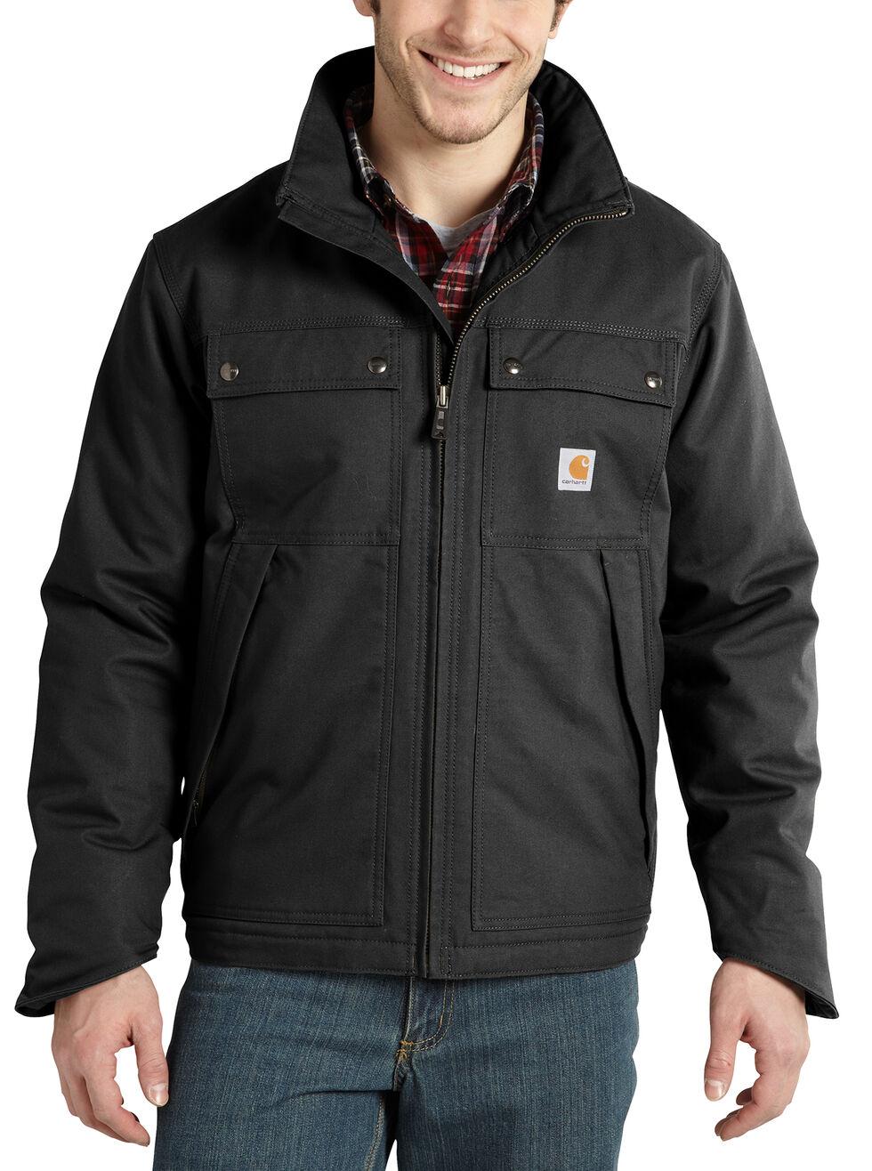 Carhartt Quick Duck® Jefferson Traditional Jacket, Black, hi-res