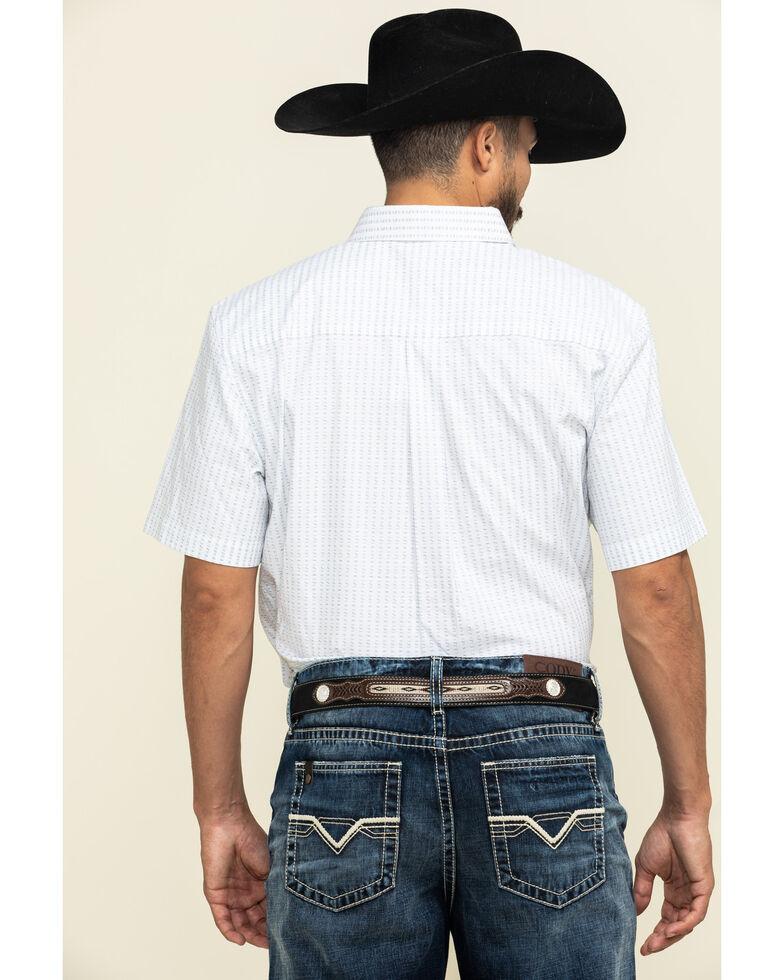 Cody James Core Men's Weekend Warrior Striped Short Sleeve Western Shirt , White, hi-res