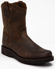 Cody James Men's Dark Horse Pull-On Boots - Round Toe, Brown, hi-res