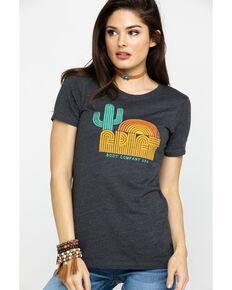 Ariat Women's Charcoal Retro Cactus Dusk Tee, Charcoal, hi-res