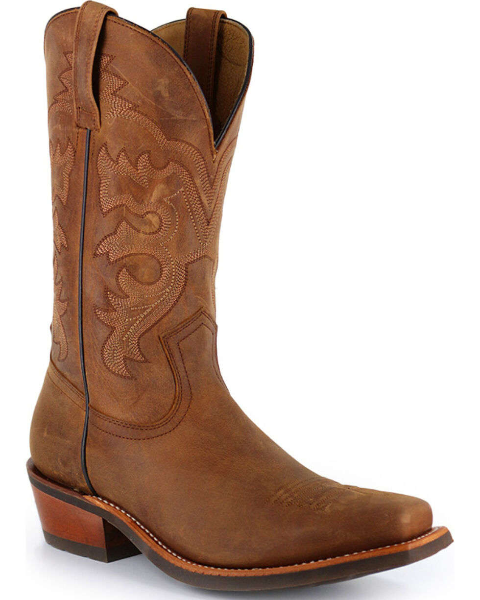 Cody James® Men's Crazy Horse Western Boots - Square Toe, Brown, hi-res