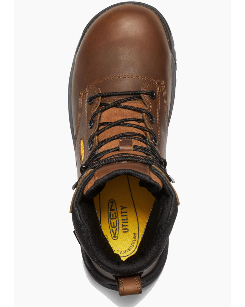 Keen Men's Chicago Waterproof Work Boots - Composite Toe, Brown, hi-res