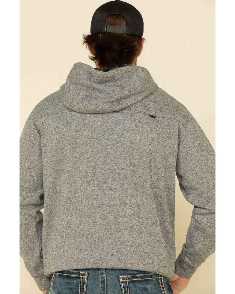HOOey Men's Grey Roughy 2.0 Lock-Up Graphic Hooded Sweatshirt , Grey, hi-res