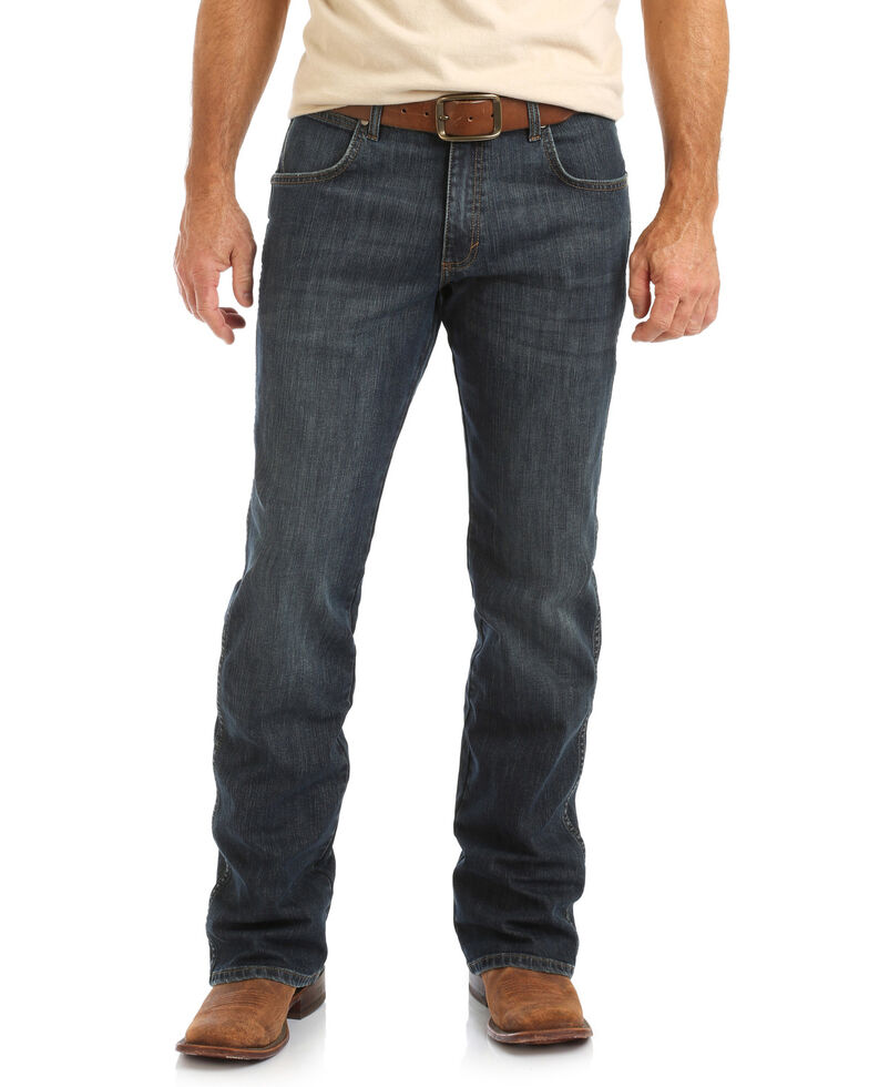 Wrangler Retro Men's Falls City Dark Relaxed Boot Jeans , Blue, hi-res