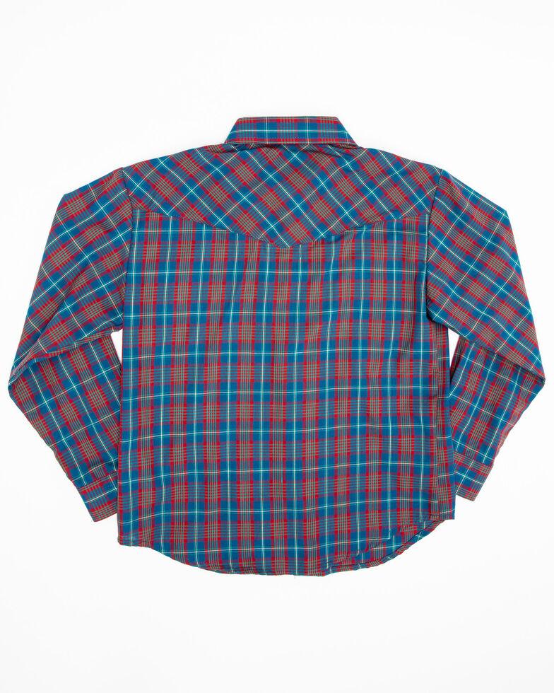 Roper Boys' Multi Plaid Snap Long Sleeve Western Shirt , Multi, hi-res