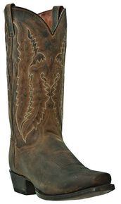 Dan Post Earp Cowboy Boots - Square Toe, Bay Apache, hi-res