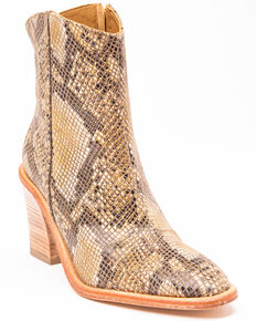 Free People Women's Barclay Fashion Booties - Round Toe, Brown, hi-res