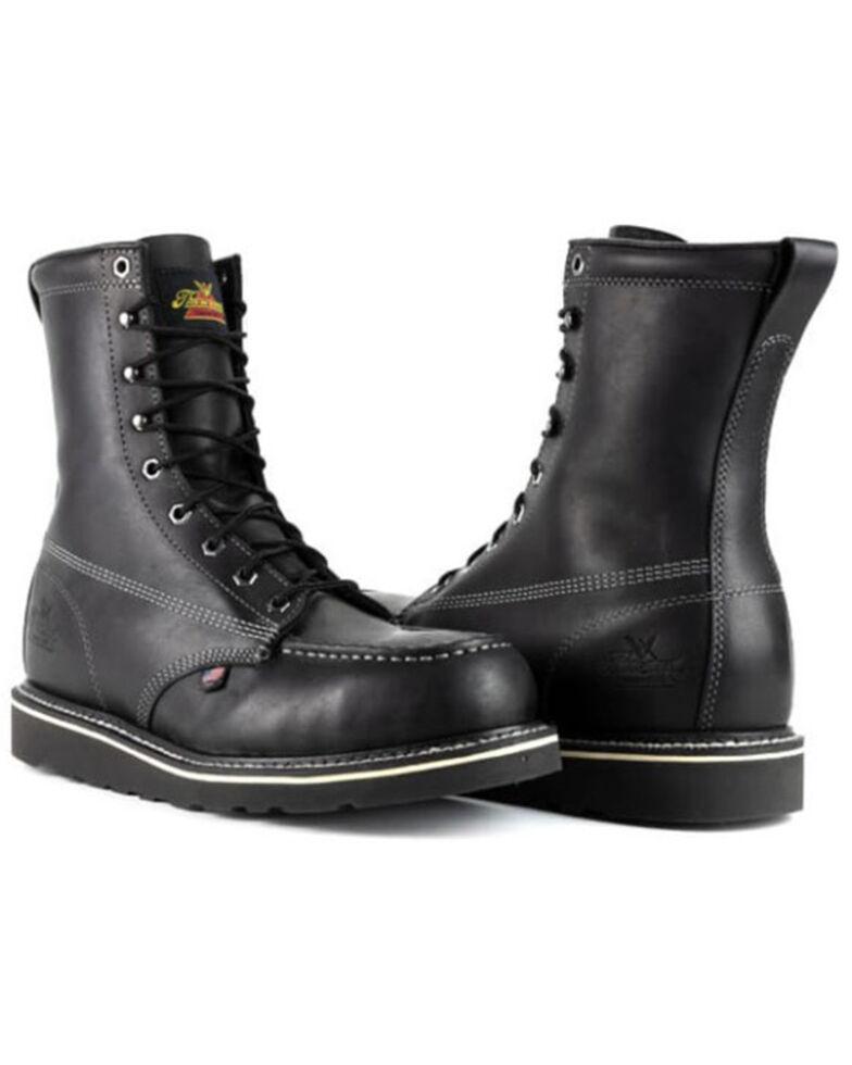 Thorogood Men's American Heritage Work Boots - Steel Toe, Black, hi-res