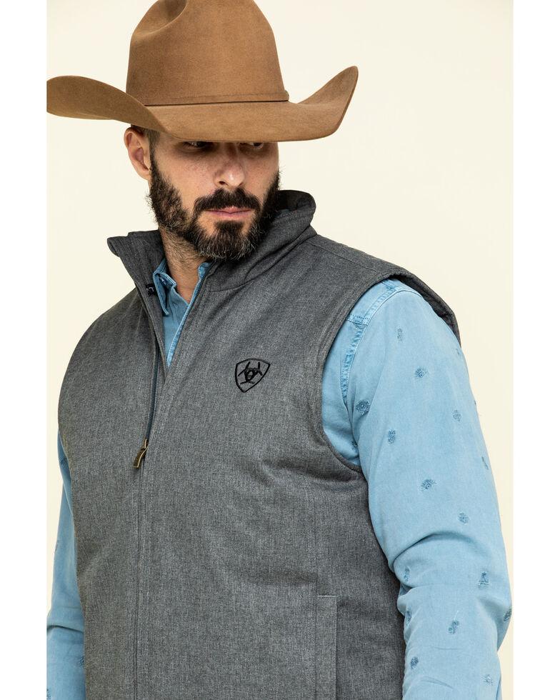 Ariat Men's Charcoal Team Vest, Charcoal, hi-res