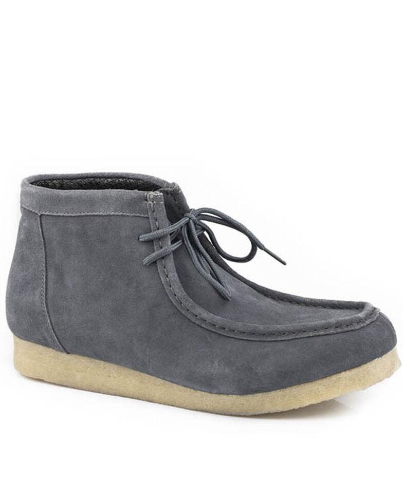 Roper Men's Grey Gum Sticker Shoes - Moc Toe, Grey, hi-res