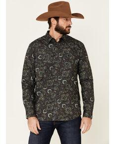 Moonshine Spirit Men's Legacy Large Paisley Print Long Sleeve Western Shirt , Multi, hi-res