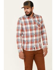 Flag & Anthem Men's Pagedale Vintage Wash Plaid Long Sleeve Button-Down Western Shirt , Rust Copper, hi-res