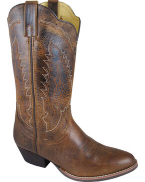 Smoky Mountain Women's Amelia Cowgirl Boots - Round Toe, Brown, hi-res