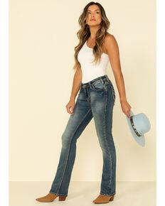 Rock & Roll Denim Women's Medium Vintage Embroidered Jeans, Blue, hi-res