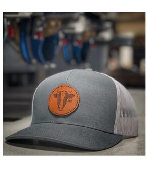 Armadillo Hat Co. Men's Hungry Heifer Trucker Cap, Grey, hi-res