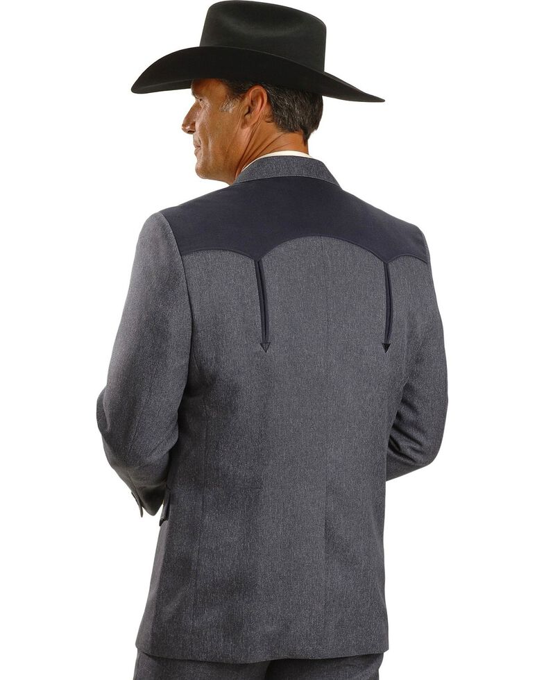 Circle S Boise Western Suit Coat - Big and Tall, Hthr Navy, hi-res