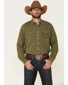 Ariat Men's Green Jurlington Retro Solid Long Sleeve Western Shirt , Green, hi-res