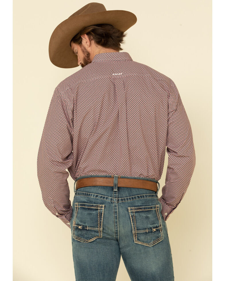 Ariat Men's Kelso Geo Print Long Sleeve Western Shirt , Black, hi-res