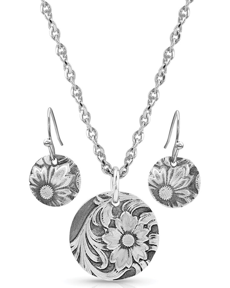 Montana Silversmiths Women's Art Of The Buckle Jewelry Set, Silver, hi-res