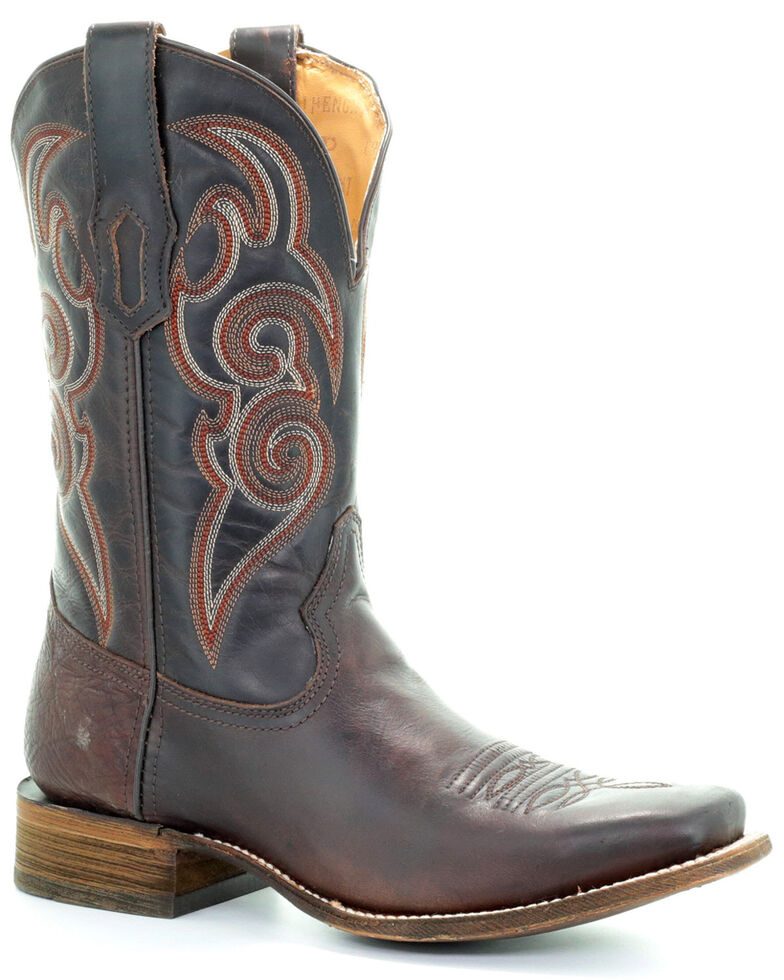 Corral Men's Tyson Durfey Performance Line TD Boots - Square Toe, Brown, hi-res