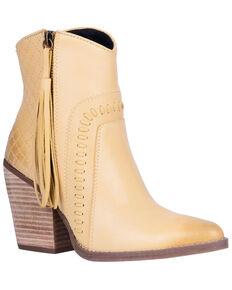 Dingo Women's Dream Big Fashion Booties - Snip Toe, Yellow, hi-res