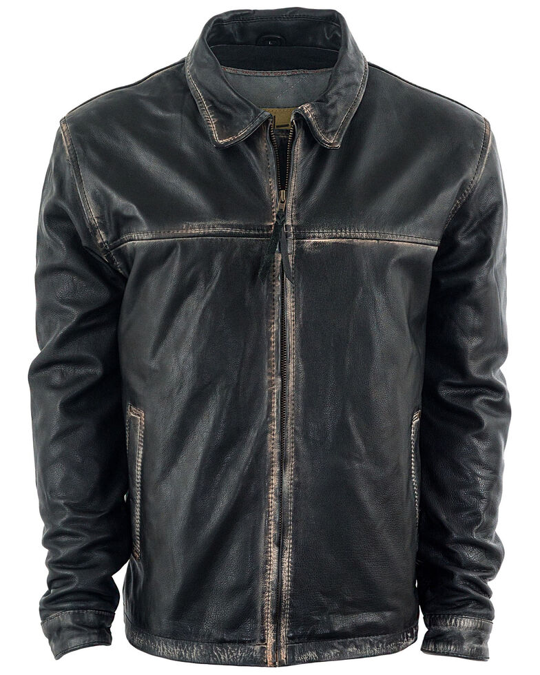 STS Ranchwear Boys' Youth Rifleman Leather Jacket , Brown, hi-res