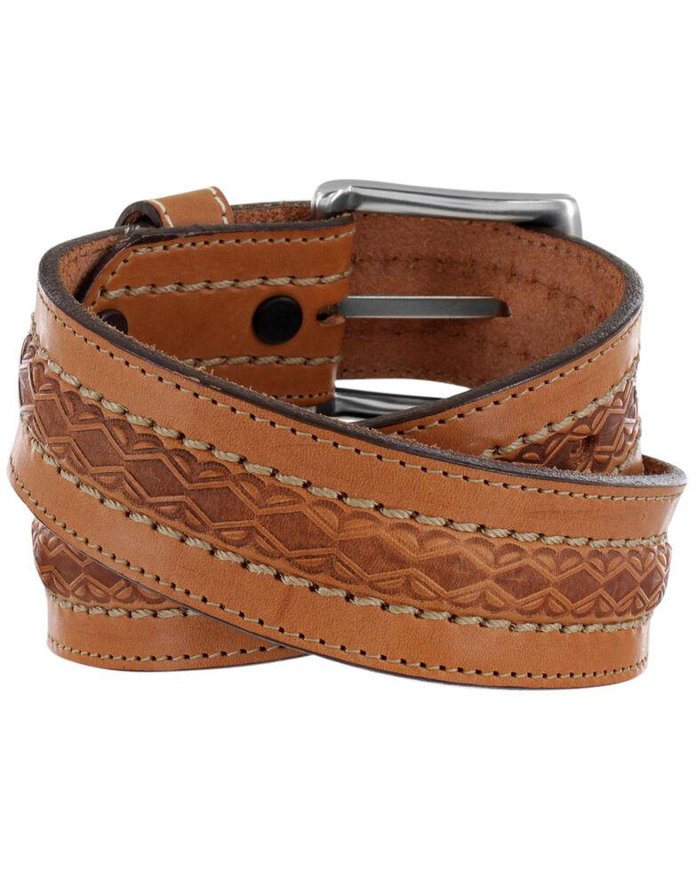 Justin Men's Dodge City Western Belt, Brown, hi-res