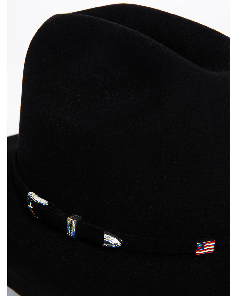 American Hat Co. Men's Black Self Buckle Hat, Black, hi-res
