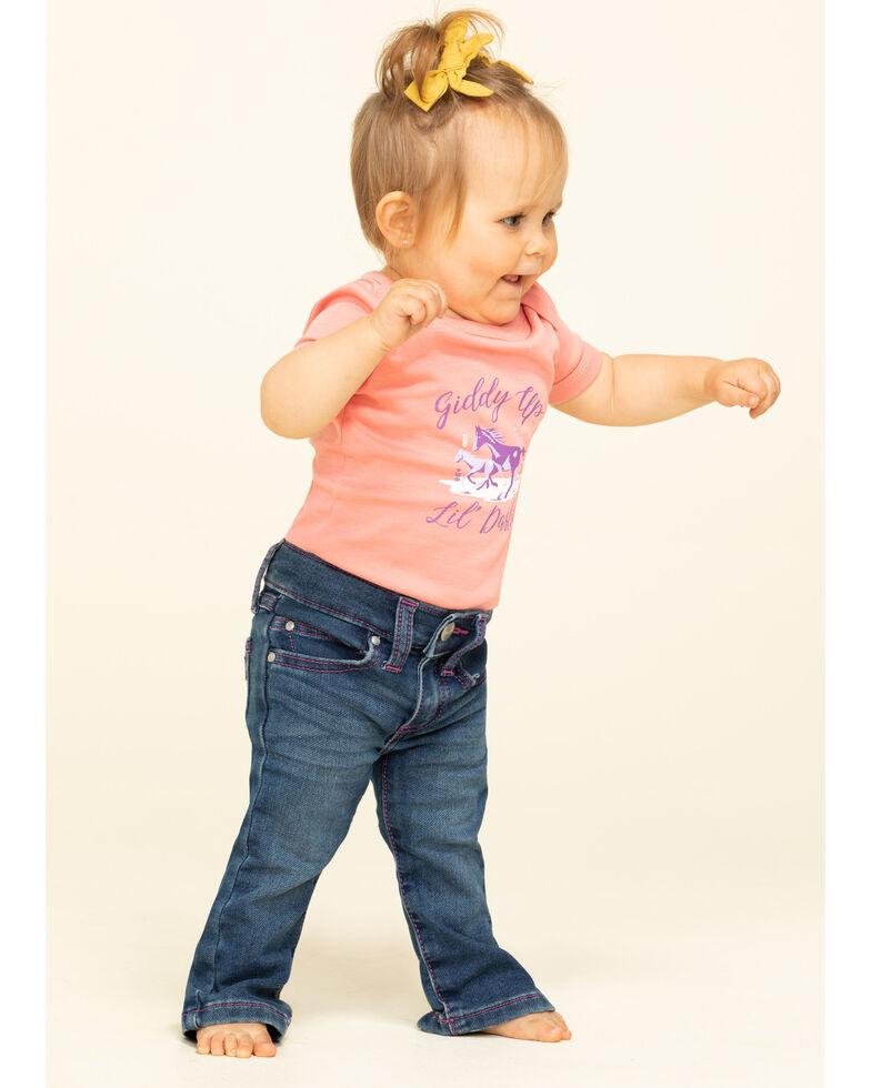 Shyanne Infant Girls' Coral Giddy Up Lil' Darlin' Knit PJ Set, Coral, hi-res